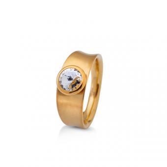 Ring gelbgold mit Swarovski