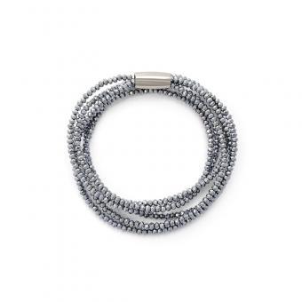Kristall-Armband silber