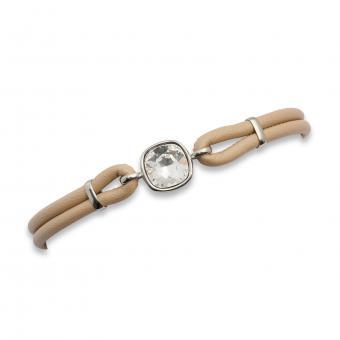 Armband aus Leder mit Swarovski-Stein