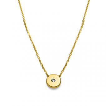 Kreis-Collier mit Diamant